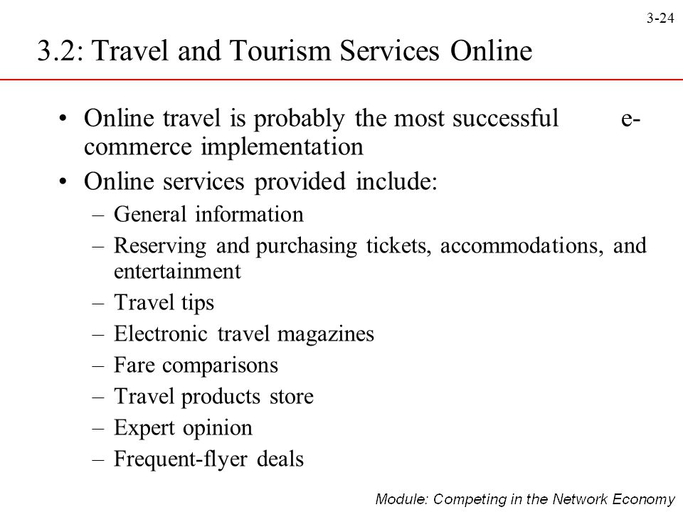 3.2: Travel and Tourism Services Online