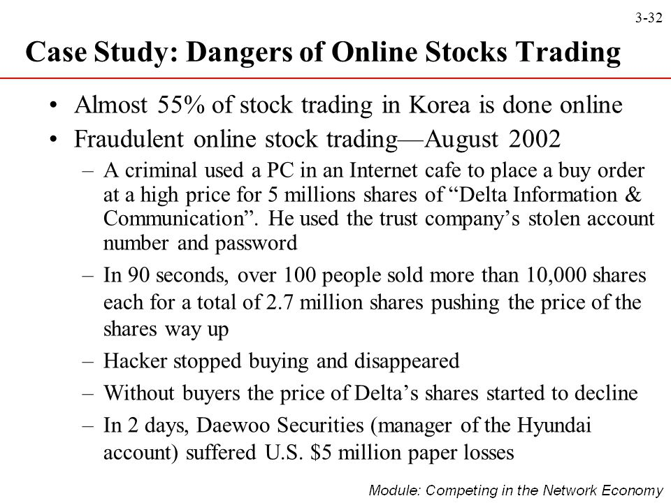 Case Study: Dangers of Online Stocks Trading