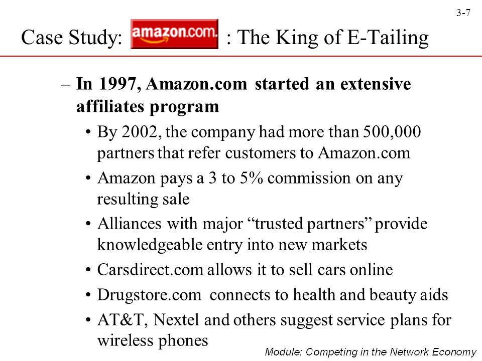 Case Study: : The King of E-Tailing