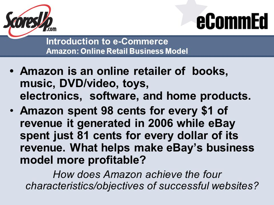 Introduction to e-Commerce Amazon: Online Retail Business Model