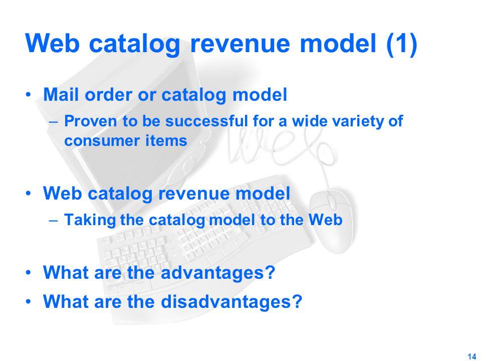 Web catalog revenue model (1)