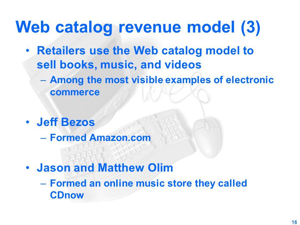 Web catalog revenue model (3)