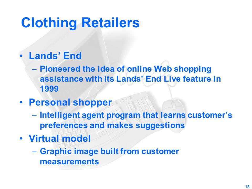 Clothing Retailers Lands' End Personal shopper Virtual model