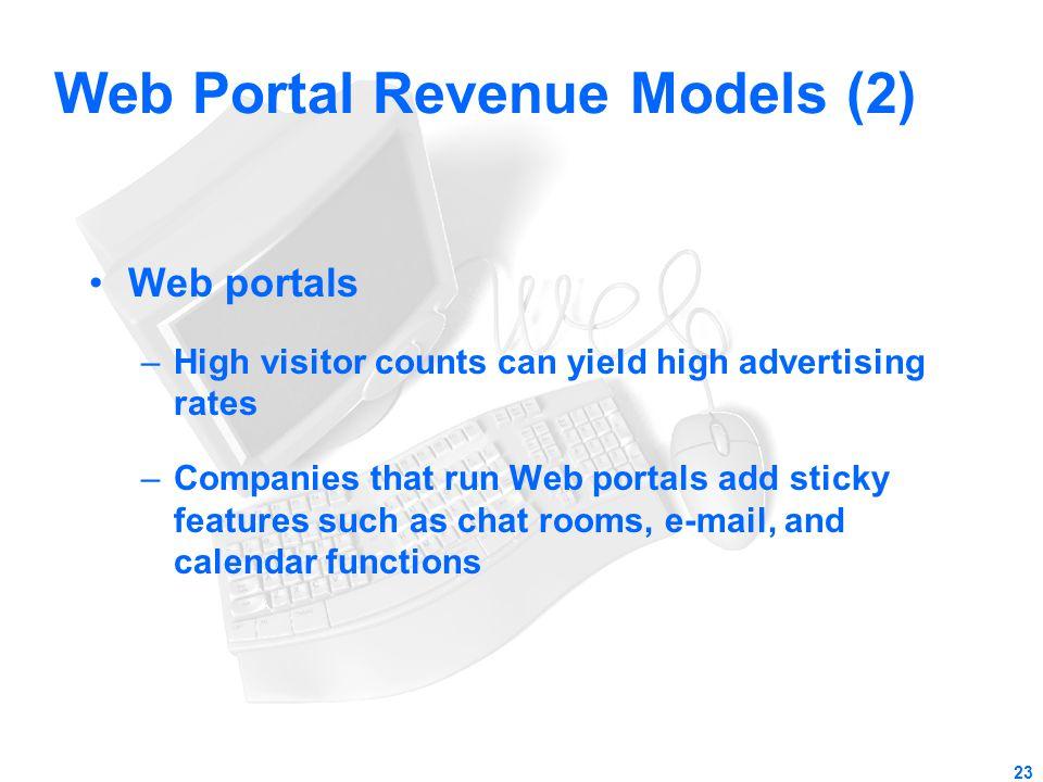 Web Portal Revenue Models (2)