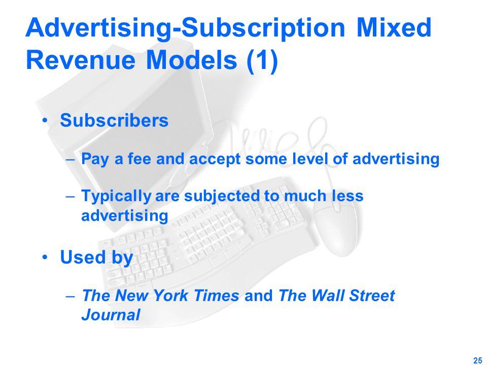 Advertising-Subscription Mixed Revenue Models (1)