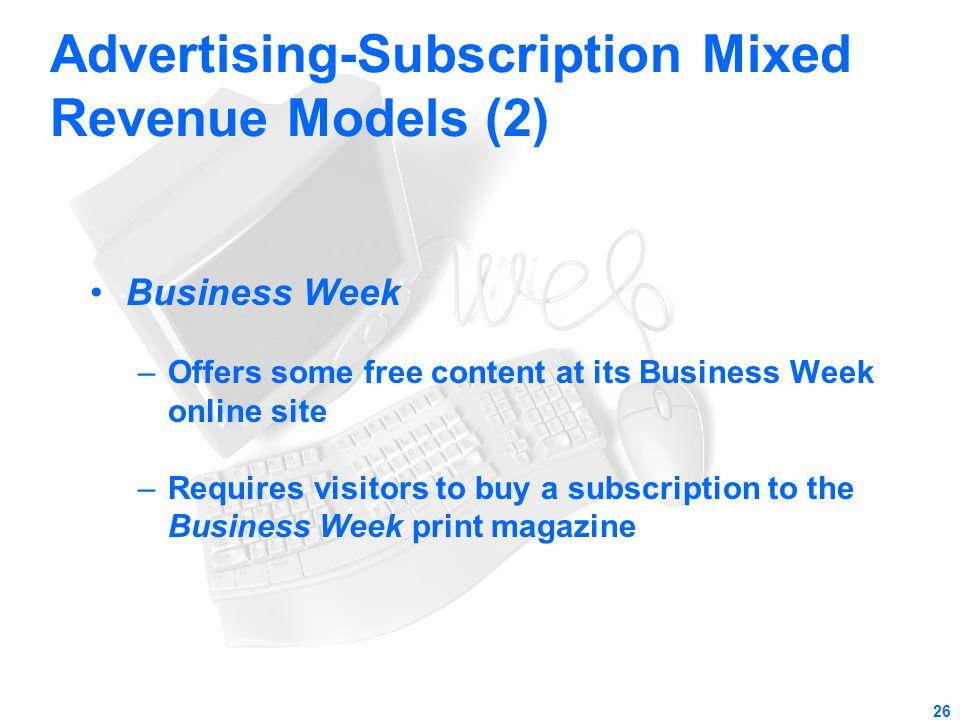 Advertising-Subscription Mixed Revenue Models (2)