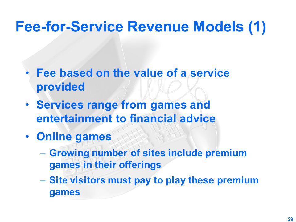 Fee-for-Service Revenue Models (1)