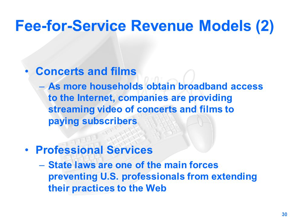 Fee-for-Service Revenue Models (2)