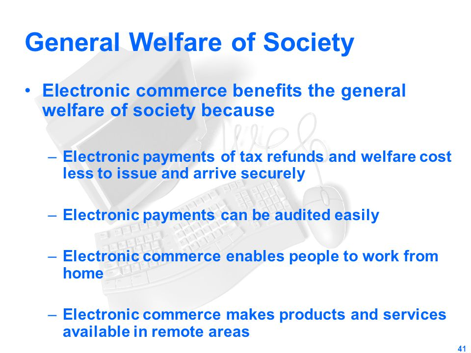 General Welfare of Society