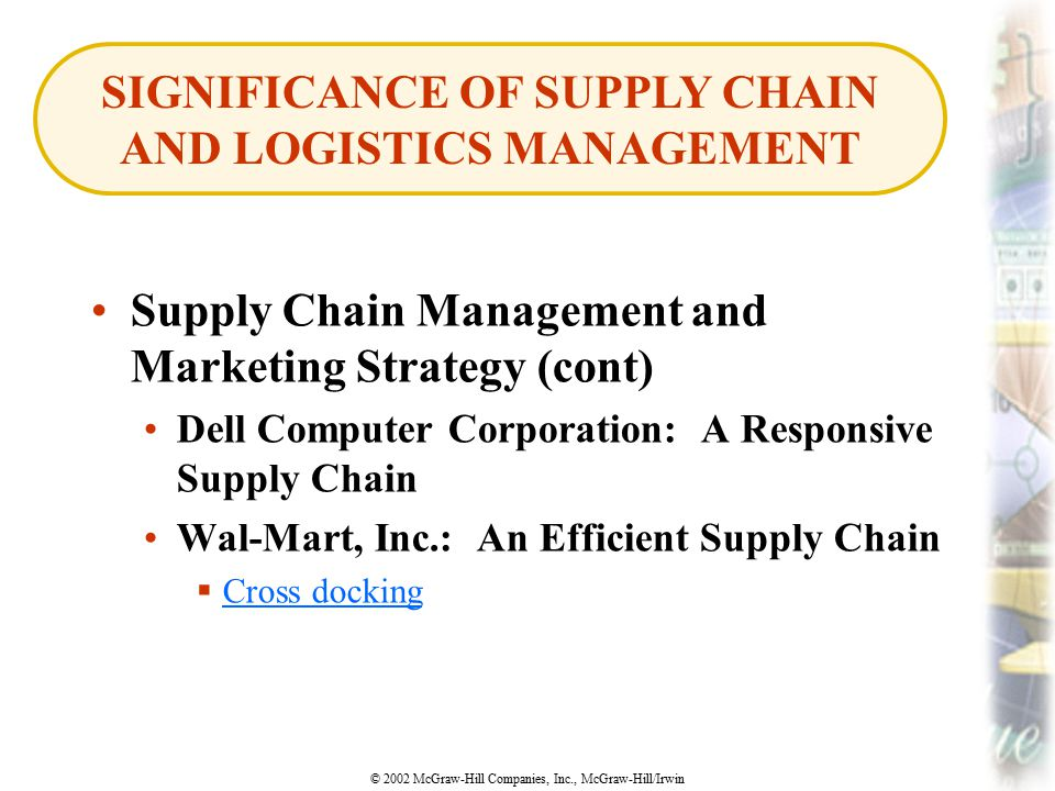 SIGNIFICANCE OF SUPPLY CHAIN AND LOGISTICS MANAGEMENT