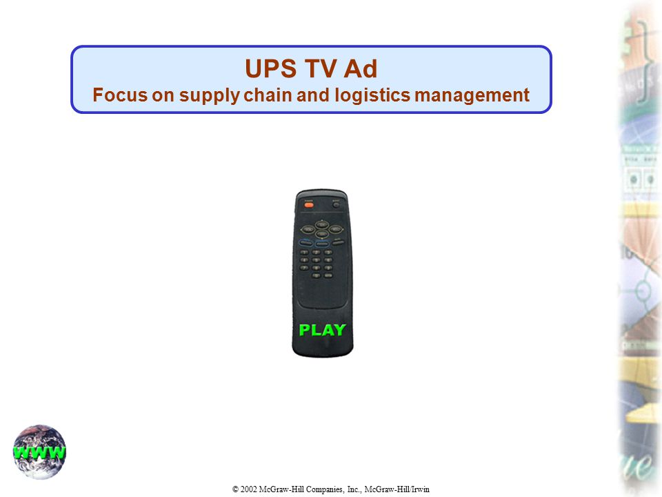Focus on supply chain and logistics management