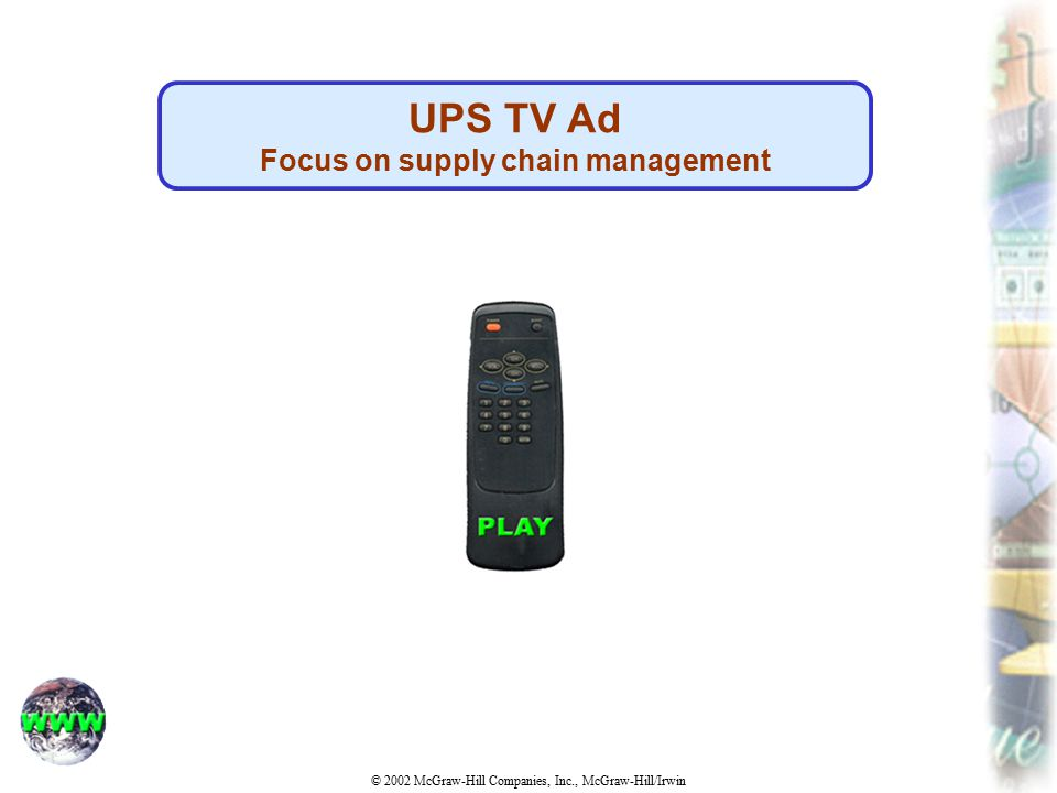 Focus on supply chain management