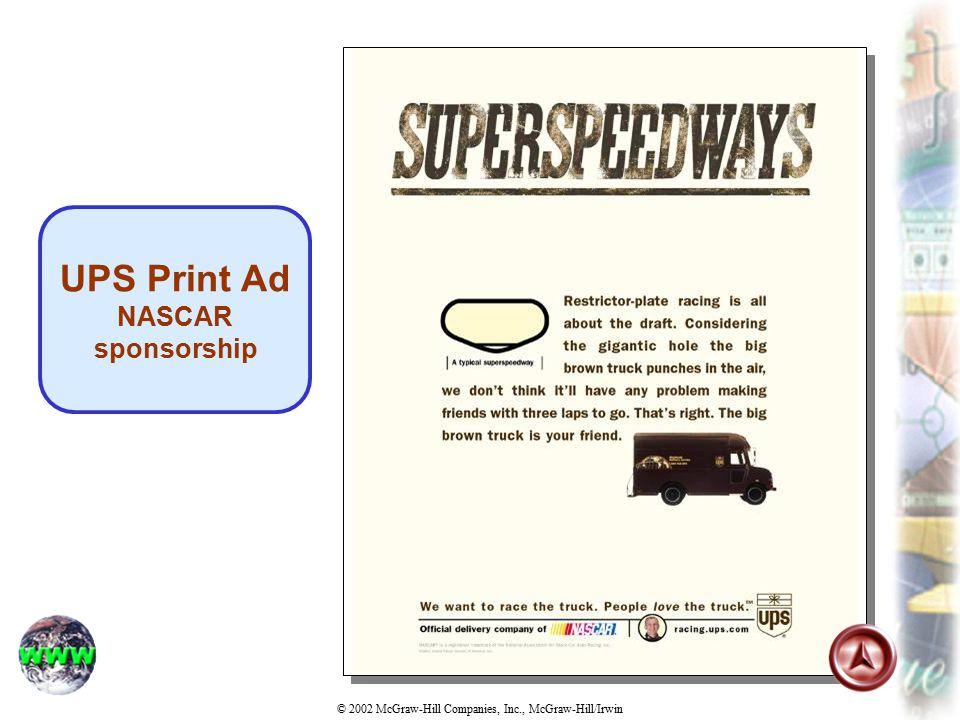 UPS Print Ad NASCAR sponsorship
