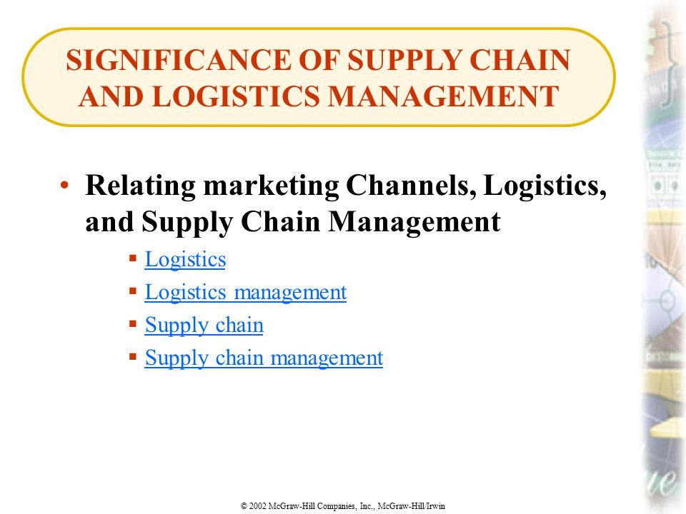significance of a supply chain in Supply chain and business success by the numbers  to business success, but  is often underestimated in its importance and hence receives.