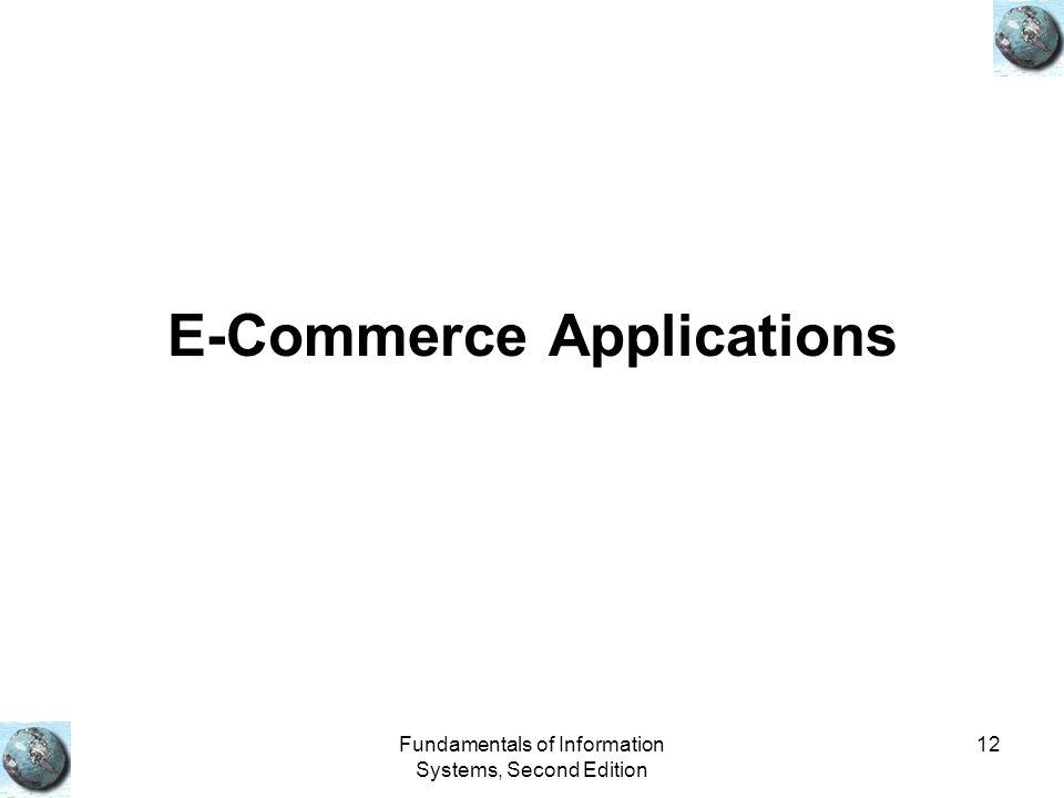 E-Commerce Applications