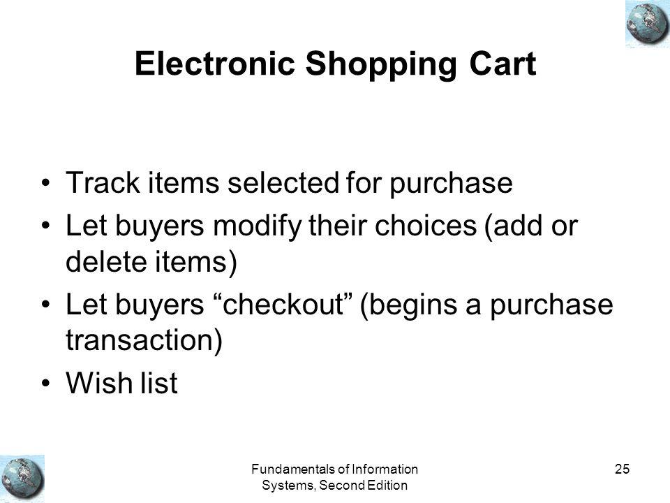 Electronic Shopping Cart