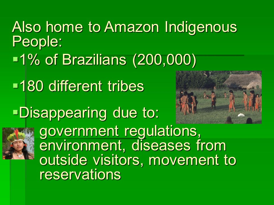 Also home to Amazon Indigenous People: