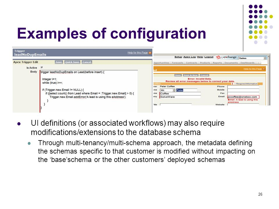 Examples of configuration