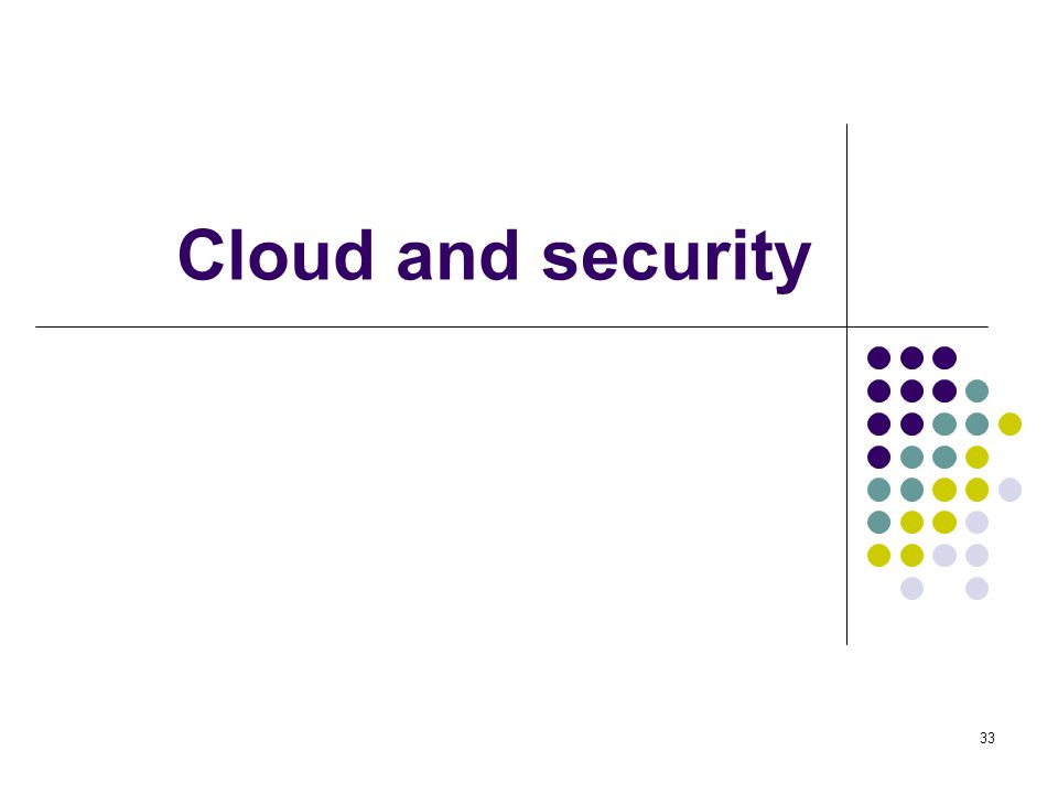 Cloud and security