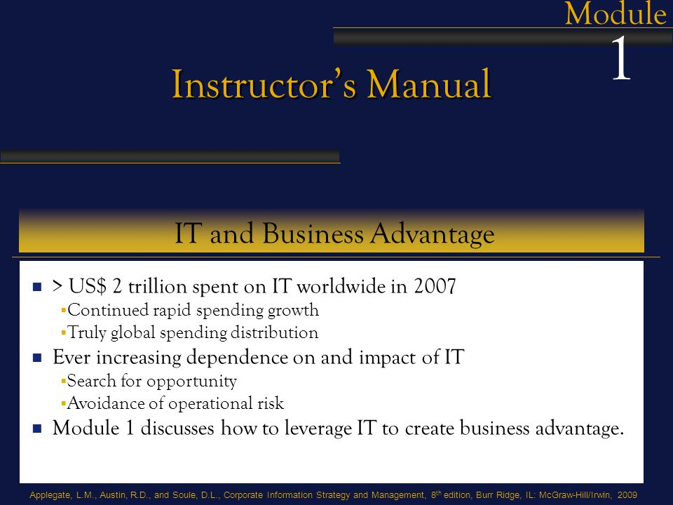 IT and Business Advantage