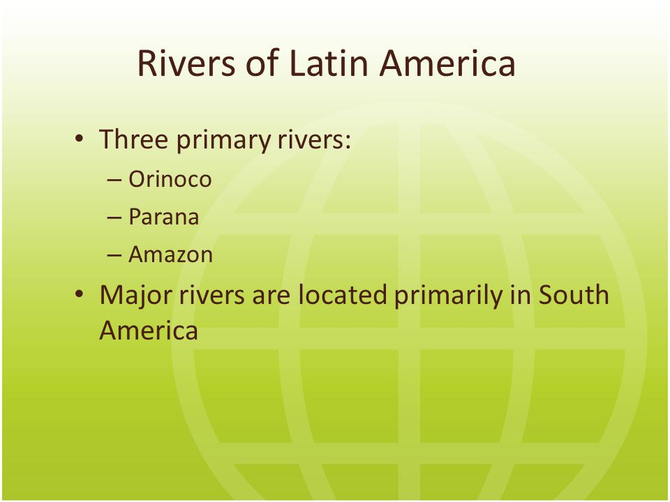 Rivers of Latin America