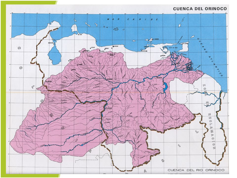 This area is the Orinoco River basin. What is a river basin