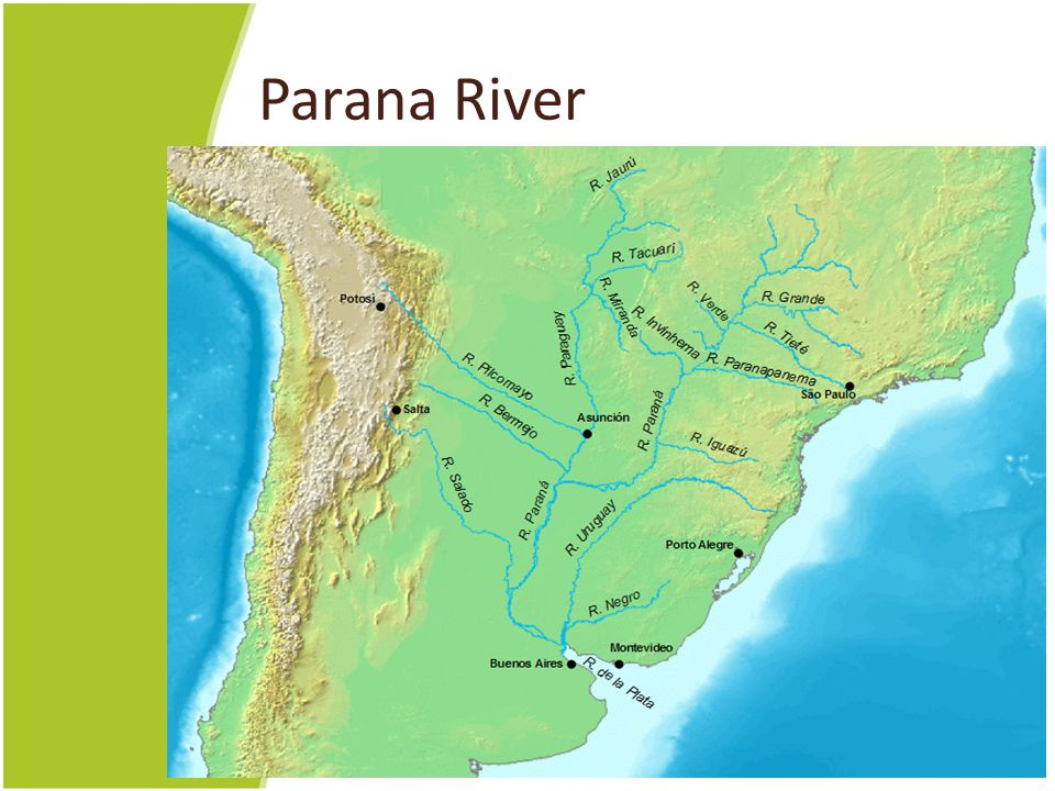 Parana River Map of the Parana River and its tributaries. PARANA: