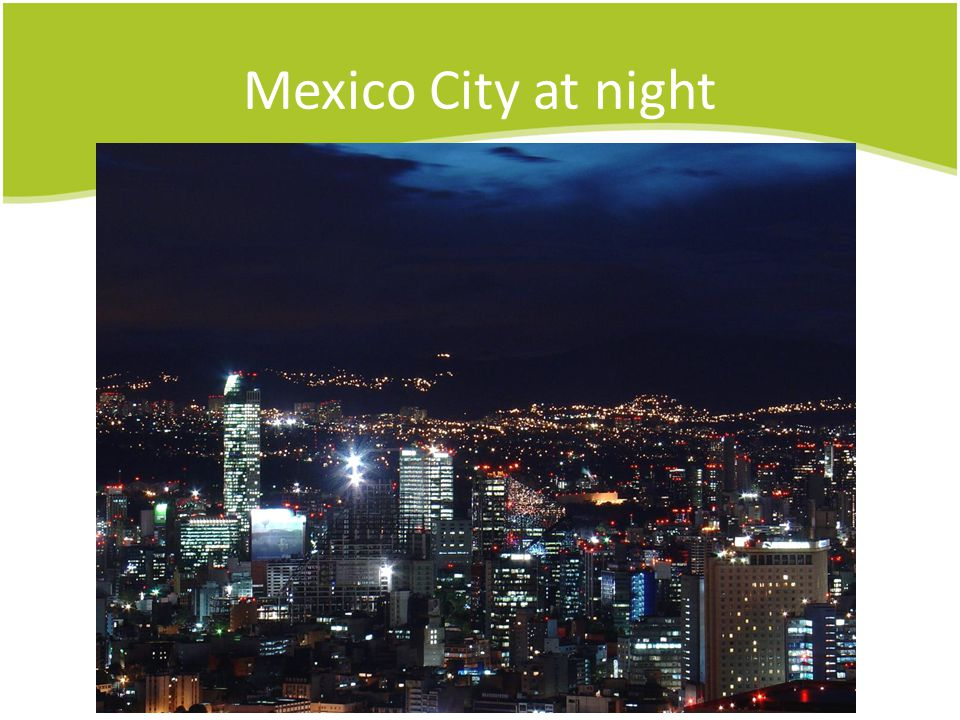 Mexico City at night