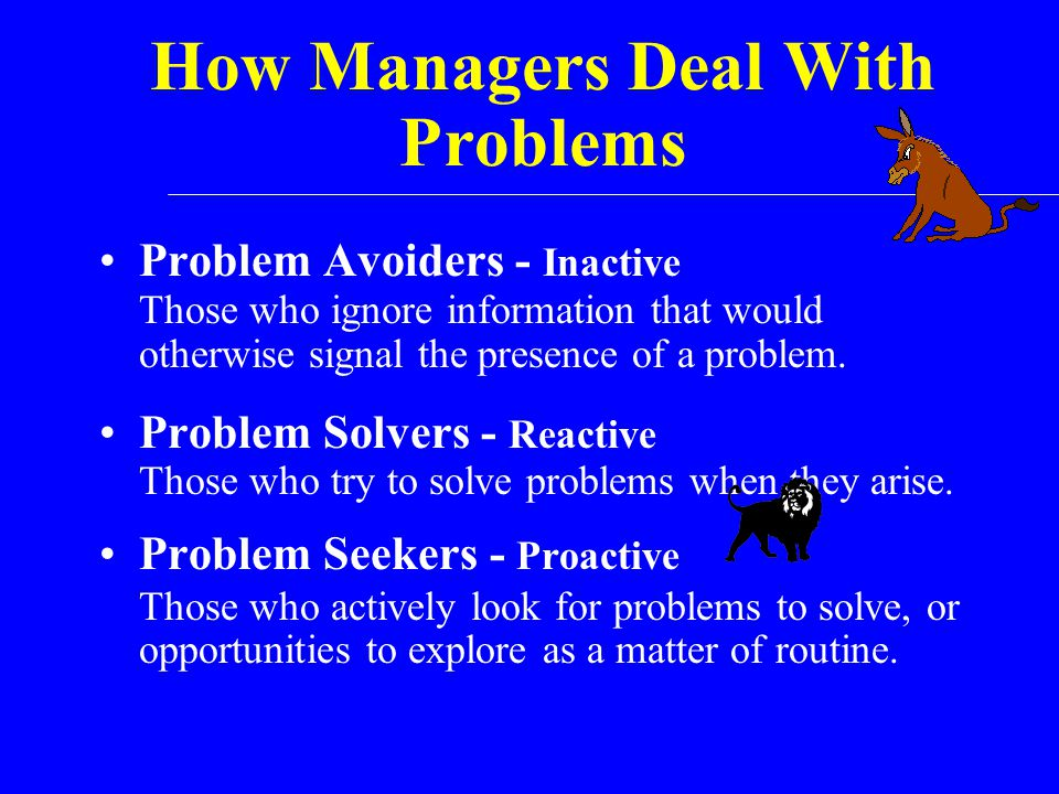 How Managers Deal With Problems