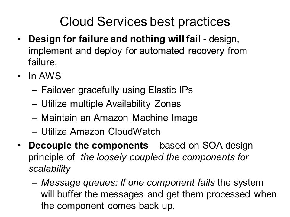 Cloud Services best practices