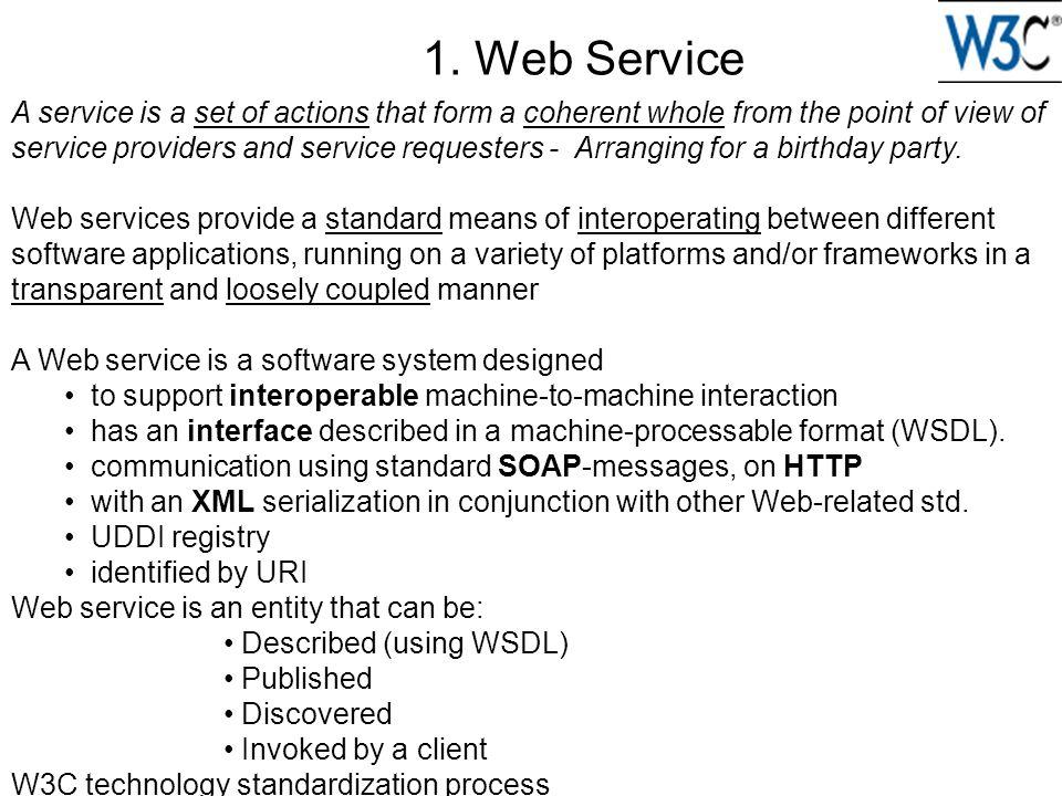 1. Web Service
