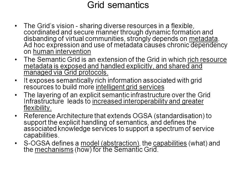 Grid semantics