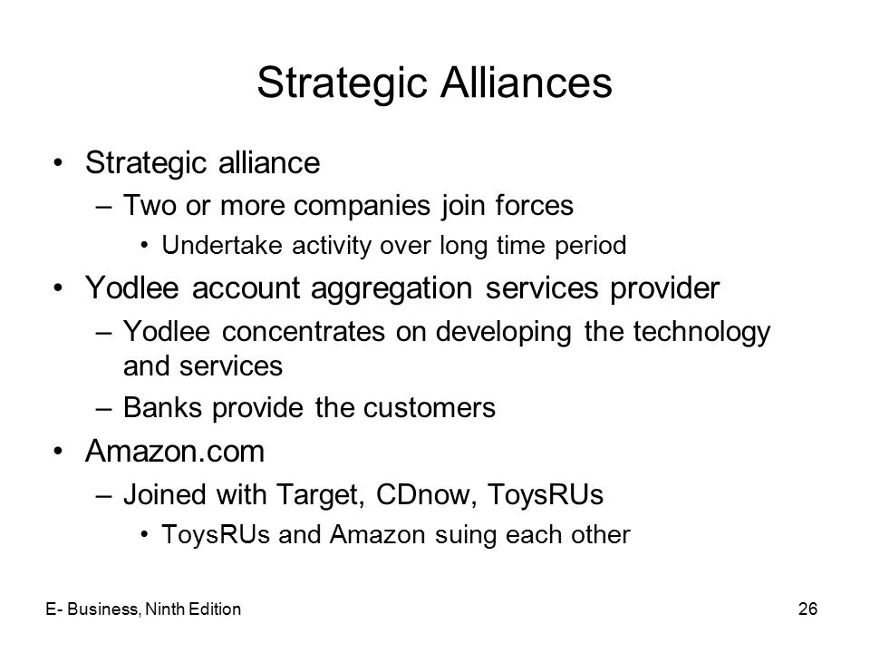Strategic Alliances Strategic alliance