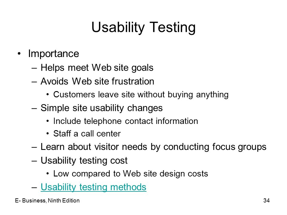 Usability Testing Importance Helps meet Web site goals