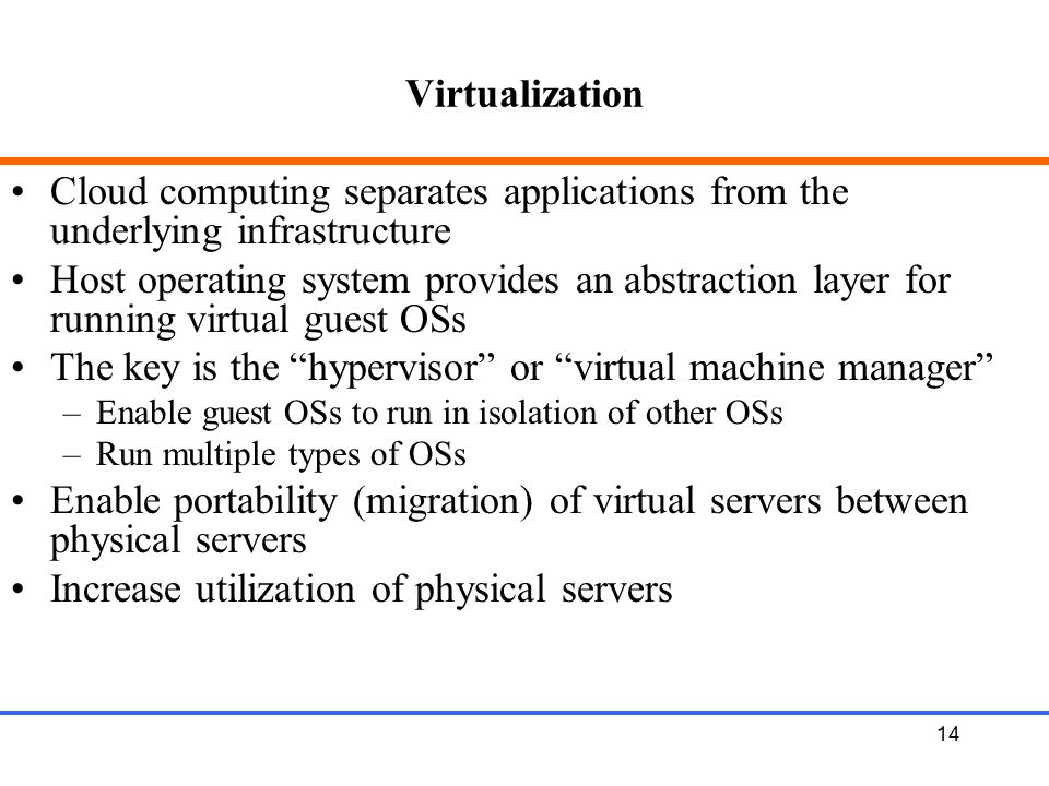 The key is the hypervisor or virtual machine manager
