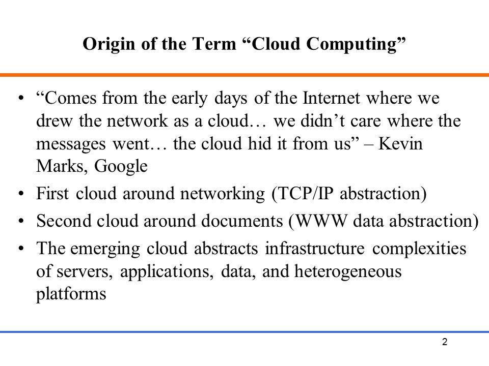 Origin of the Term Cloud Computing