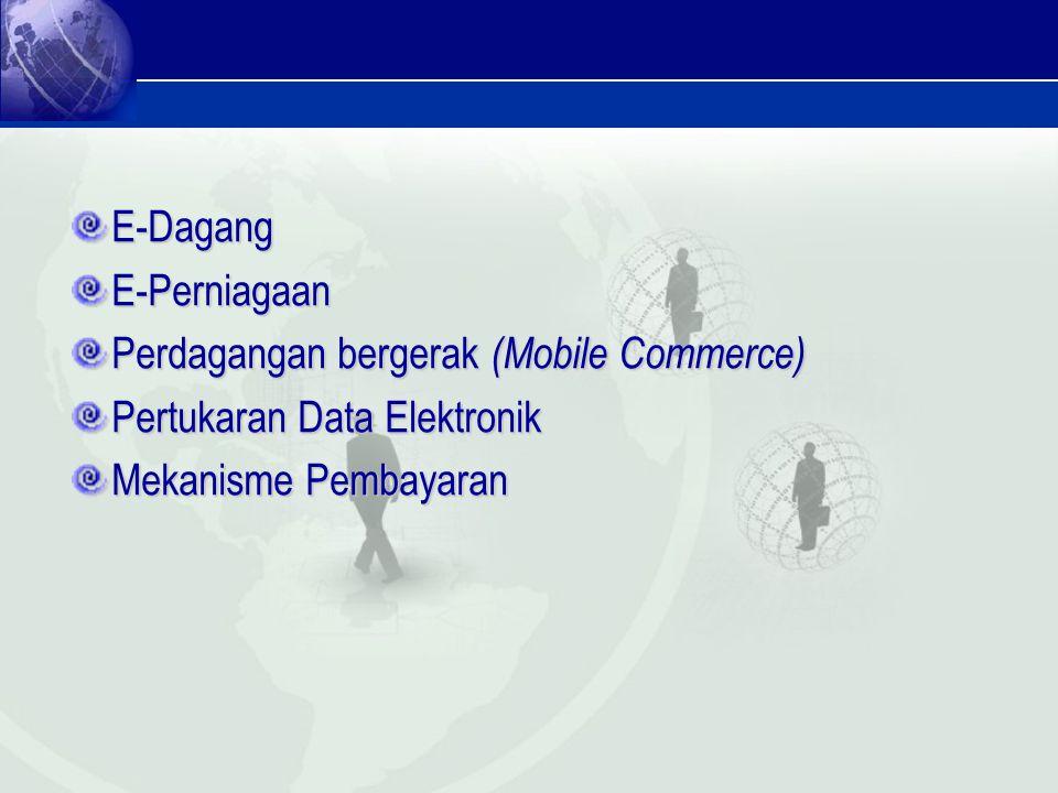 E-Dagang E-Perniagaan. Perdagangan bergerak (Mobile Commerce) Pertukaran Data Elektronik.