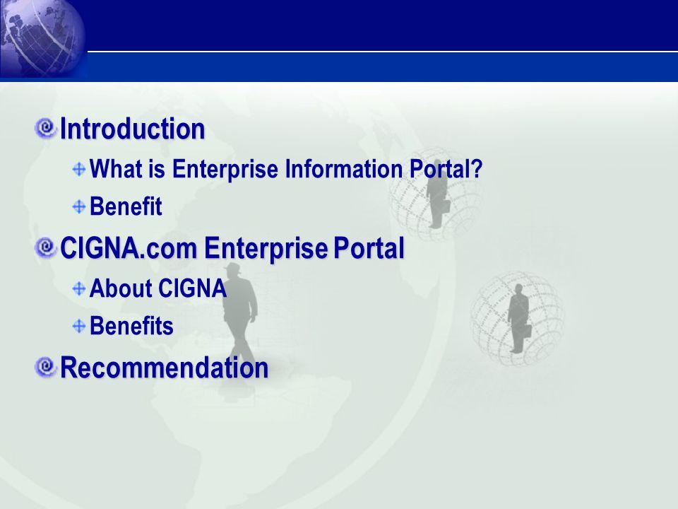 CIGNA.com Enterprise Portal