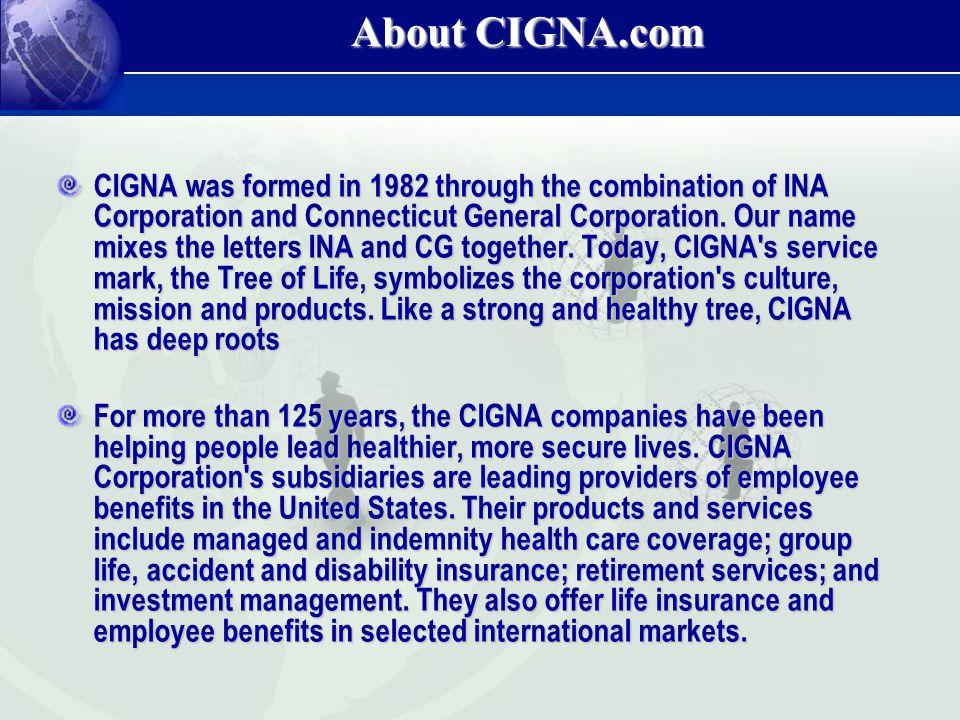 About CIGNA.com