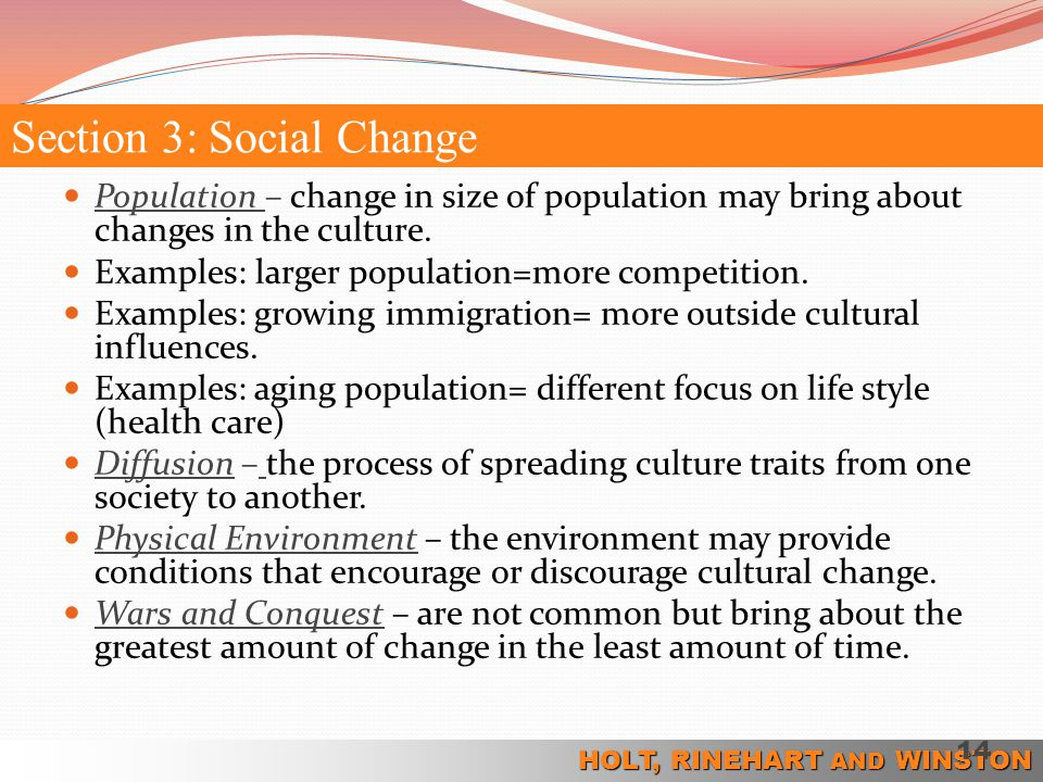 Section 3: Social Change