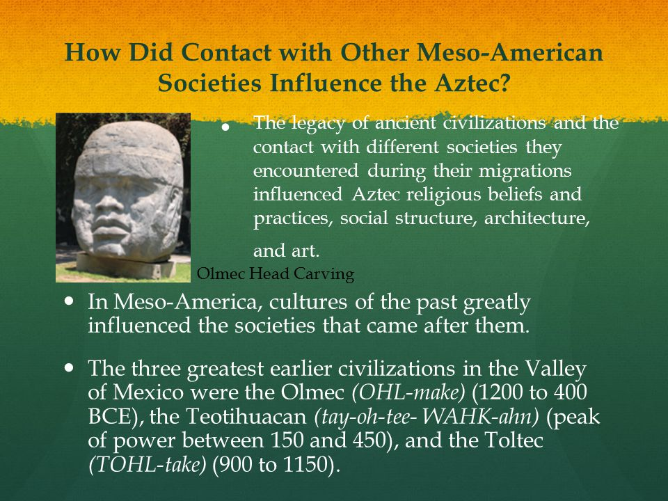 How Did Contact with Other Meso-American Societies Influence the Aztec