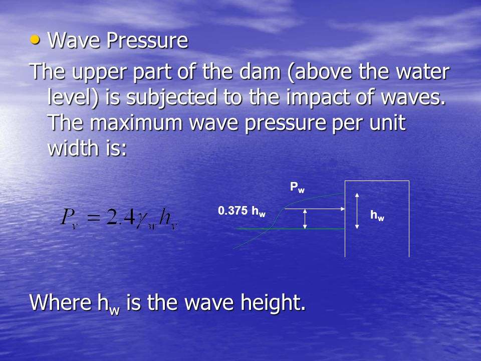 Where hw is the wave height.
