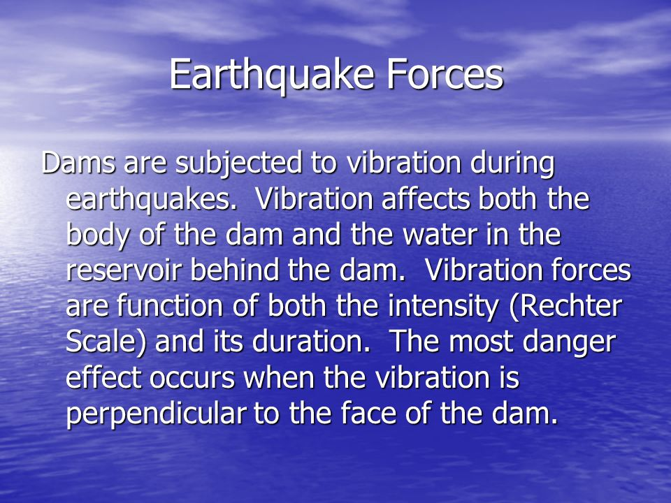 Earthquake Forces