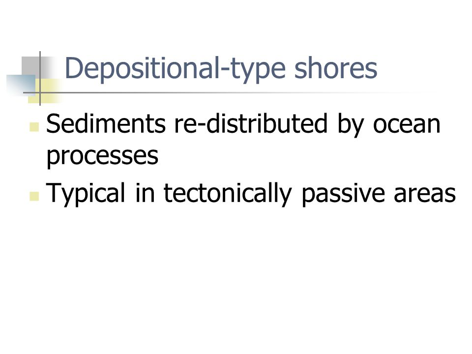 Depositional-type shores