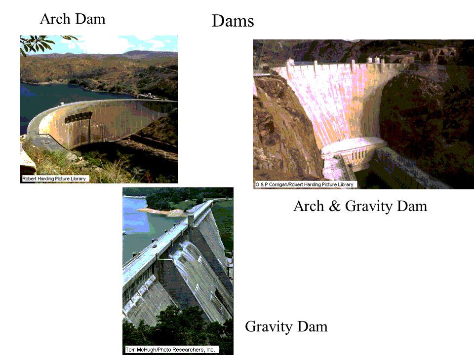 Dams Arch Dam Arch & Gravity Dam Gravity Dam
