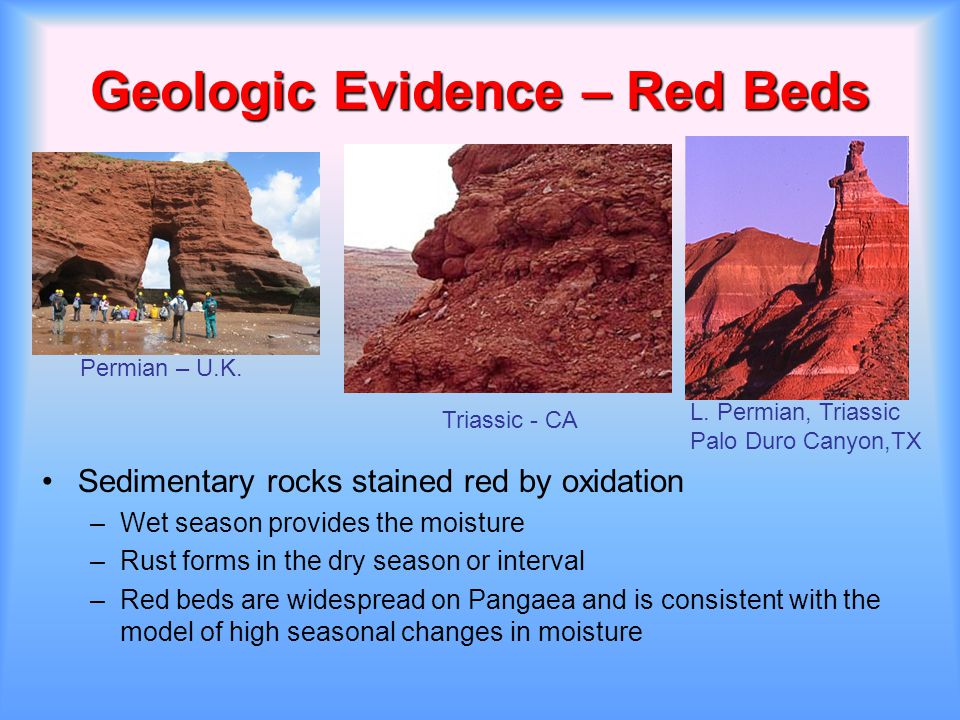 Geologic Evidence – Red Beds