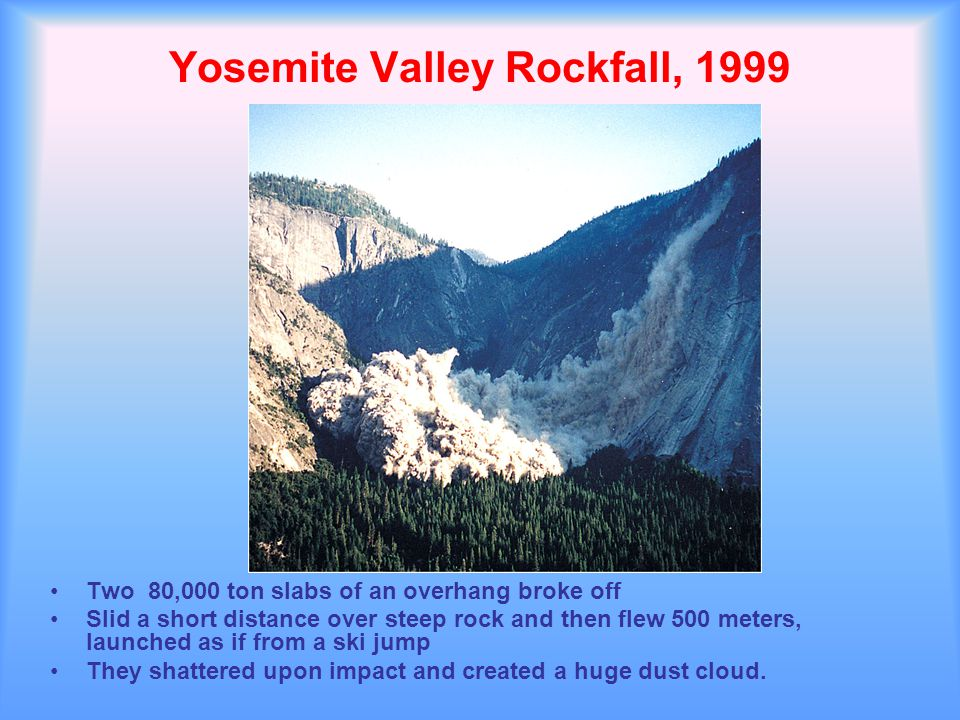 Yosemite Valley Rockfall, 1999
