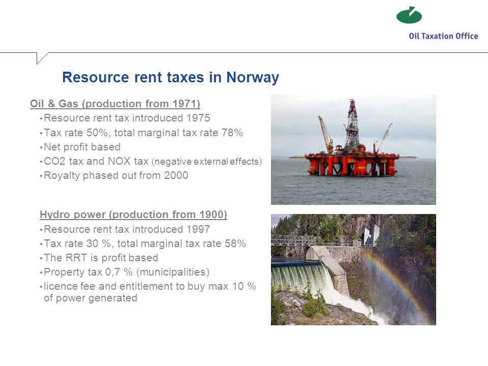 Resource rent taxes in Norway