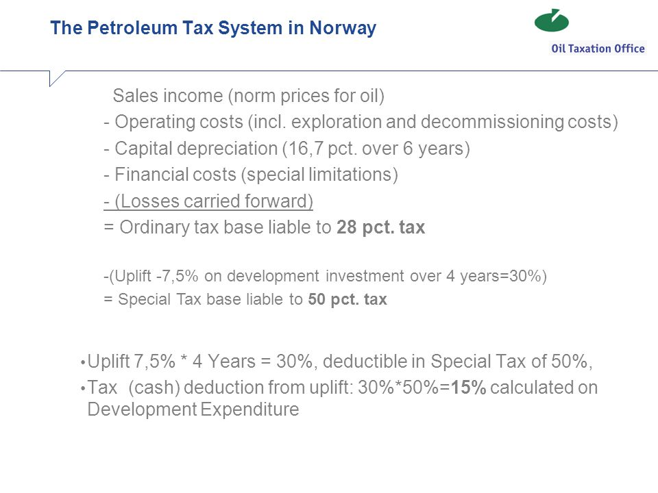 The Petroleum Tax System in Norway