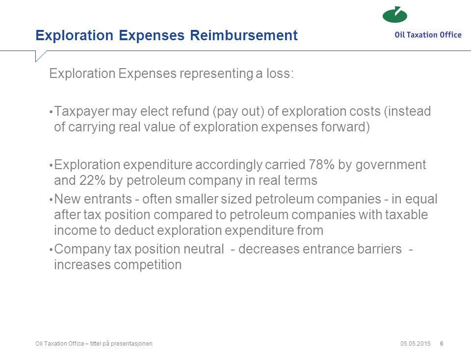 Exploration Expenses Reimbursement